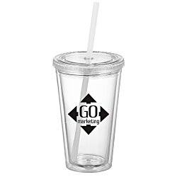 View a larger, more detailed picture of the Victory Tumbler w Mood Straw - 16 oz