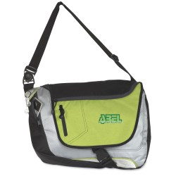 View a larger, more detailed picture of the Fast Lane Convertible Messenger Bag - Embroidered
