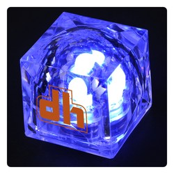 View a larger, more detailed picture of the Crystal Light Up Ice Cube - Blue