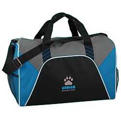 View a larger, more detailed picture of the Color Panel Sport Duffel - Embroidered