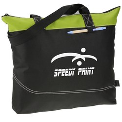 View a larger, more detailed picture of the Network Zippered Tote - Closeout