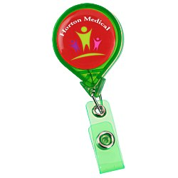 View a larger, more detailed picture of the Jumbo Retractable Badge Holder - 40 - Round - Translucent