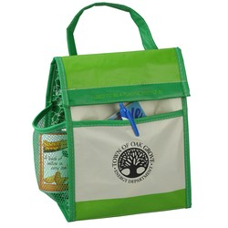 View a larger, more detailed picture of the Recycled Impulse Lunch Cooler - Green - Closeout