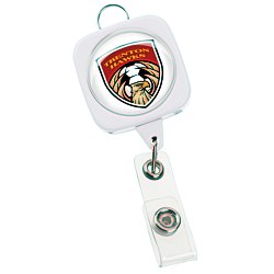 View a larger, more detailed picture of the Jumbo Retractable Badge Holder - 40 - Square w Lanyard Ring