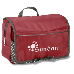 View a larger, more detailed picture of the Polka Dot Cosmetic Case - Closeout