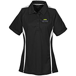 View a larger, more detailed picture of the Performance Pique Mesh Colorblock Polo - Ladies