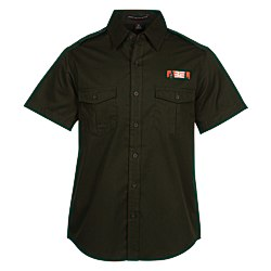 View a larger, more detailed picture of the Two-Pocket-Stain Resistant SS Shirt - Men s
