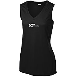View a larger, more detailed picture of the Sleeveless Contender V-Neck Tank - Ladies
