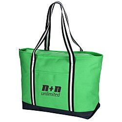 View a larger, more detailed picture of the Large Cotton Canvas Admiral Tote - Screen