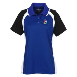 View a larger, more detailed picture of the Tri-Color Performance Polo - Ladies