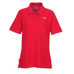 View a larger, more detailed picture of the Barela Performance Blend Pique Polo - Ladies