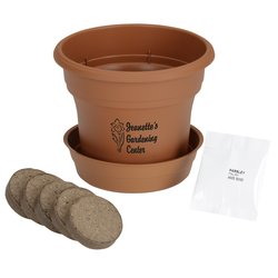 View a larger, more detailed picture of the Terra Cotta Planter Kit - Large