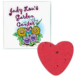 View a larger, more detailed picture of the Plant-A-Shape Flower Seed Value Packet - Heart