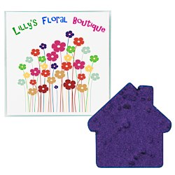 View a larger, more detailed picture of the Plant-A-Shape Flower Seed Value Packet - House
