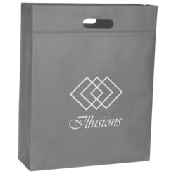 View a larger, more detailed picture of the Gusseted Polypro Convention Tote - 17-1 4 x14-1 4 -Closeout