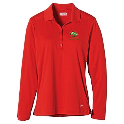 View a larger, more detailed picture of the Brecon Long Sleeve Moisture Wicking Polo - Ladies - 24 hr