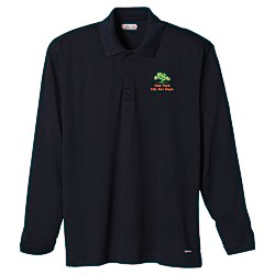 View a larger, more detailed picture of the Brecon Long Sleeve Moisture Wicking Polo - Men s - 24 hr