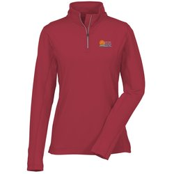 View a larger, more detailed picture of the Caltech Performance 1 4 Zip Pullover - Ladies - 24 hr