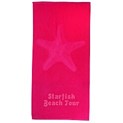 View a larger, more detailed picture of the Tone on Tone Stock Art Towel - Starfish