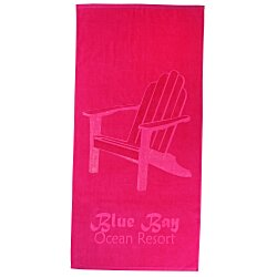 View a larger, more detailed picture of the Tone on Tone Stock Art Towel - Find your Bliss