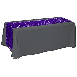 View a larger, more detailed picture of the 6 Closed-Back Table Throw w Floral Runner - Blank