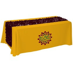 View a larger, more detailed picture of the 6 Closed-Back Table Throw w Floral Runner - Heat Transfer