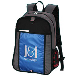 View a larger, more detailed picture of the Color Block Backpack