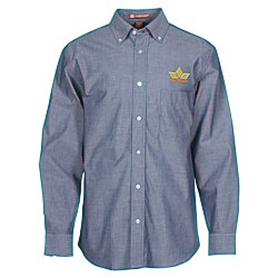 View a larger, more detailed picture of the Harriton Chambray Shirt - Men s