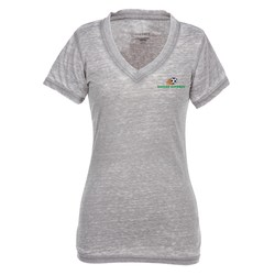 View a larger, more detailed picture of the Northshore Burnout Jersey V-Neck T-Shirt - Ladies