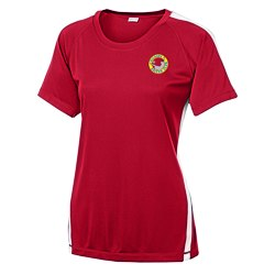 View a larger, more detailed picture of the Colorblock Contender Tee - Ladies - Embroidered