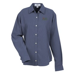 View a larger, more detailed picture of the Vantage Polynosic Houndstooth Shirt - Ladies - Closeout
