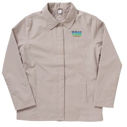 View a larger, more detailed picture of the Soho Button Front Microfiber Jacket - Ladies - Closeout