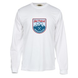 View a larger, more detailed picture of the Athletic Long Sleeve Performance Tee - Full Color