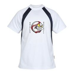 View a larger, more detailed picture of the Athletic Colorblock Performance Tee - Full Color