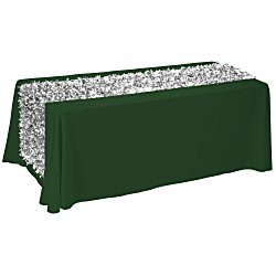 View a larger, more detailed picture of the 6 Closed-Back Table Throw w Metallic Floral Runner - Blank