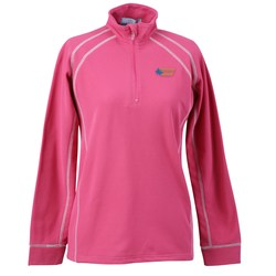 View a larger, more detailed picture of the Vansport Lightweight Waffle 1 4 Zip Fleece-Ladies -Closeout