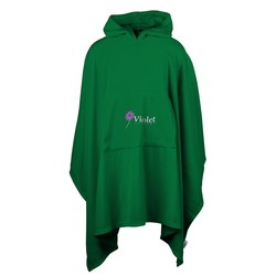 View a larger, more detailed picture of the Micro Coral Fleece Poncho - Closeout