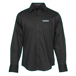View a larger, more detailed picture of the Wrinkle Resistant Stretch Poplin Shirt - Men s