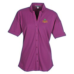 View a larger, more detailed picture of the Soft Stretch Pique Button Front Shirt - Ladies