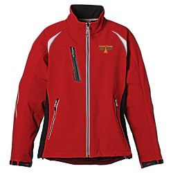 View a larger, more detailed picture of the Katavi Color Block Soft Shell Jacket - Ladies - 24 hr