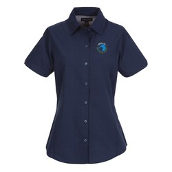 View a larger, more detailed picture of the Sanchi Short Sleeve Dress Shirt - Ladies - 24 hr