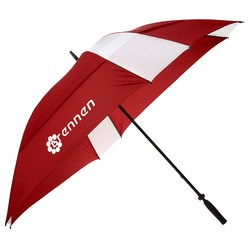 View a larger, more detailed picture of the Windjammer Vented Square Umbrella - 62 Arc - Closeout