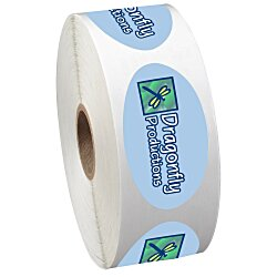 View a larger, more detailed picture of the Full Color Sticker by the Roll - Oval - 1-1 4 x 2-1 4