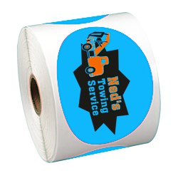 View a larger, more detailed picture of the Full Color Sticker by the Roll - Oval - 2-5 8 x 3-3 4