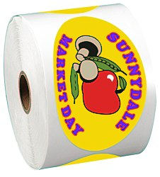 View a larger, more detailed picture of the Full Color Sticker by the Roll - Oval - 2-1 2 x 4-1 4