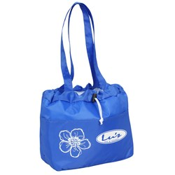 View a larger, more detailed picture of the Floral Drawstring Metro Lunch Tote