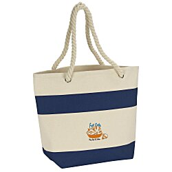 View a larger, more detailed picture of the Capri Stripes Cotton Tote - Embroidered