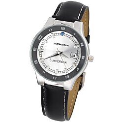 View a larger, more detailed picture of the Prague Leather Watch - Men s