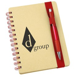 View a larger, more detailed picture of the Bright Line Recycled Notebook w Pen - Closeout