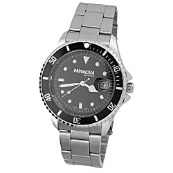 View a larger, more detailed picture of the Master Stainless Steel Watch - Men s